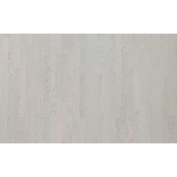 Паркетная доска Polarwood Дуб Тундра белый матовый трехполосный Oak Tundra White Matt